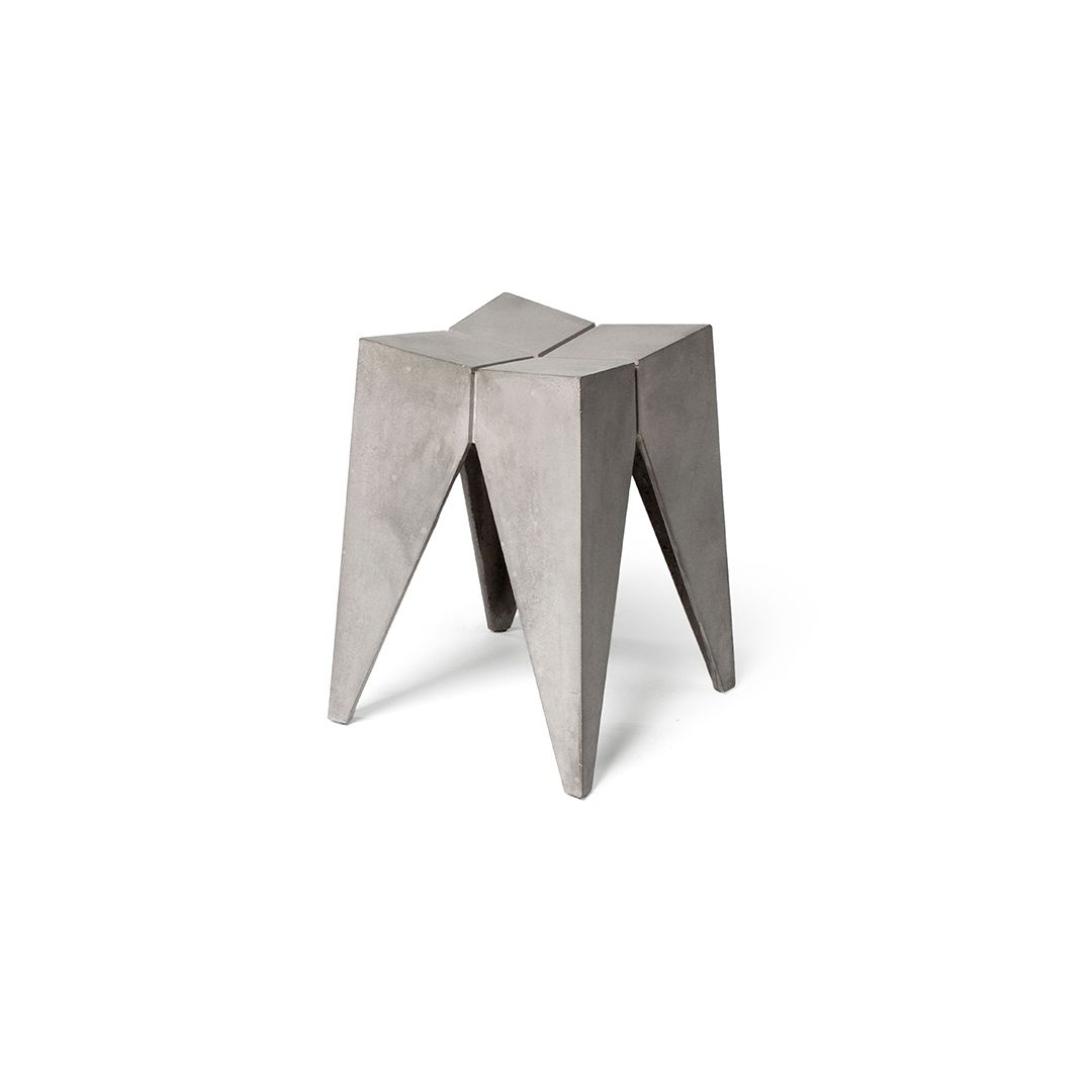singleton bridge stool featured in Concrete benches & stools|side & bedside tables by Lyon Béton